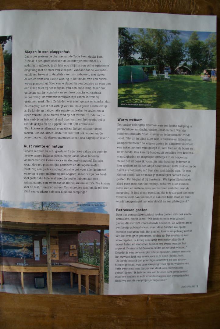 Mini Camping Het Wielseveld Betuwe Nieuws Buitenleven